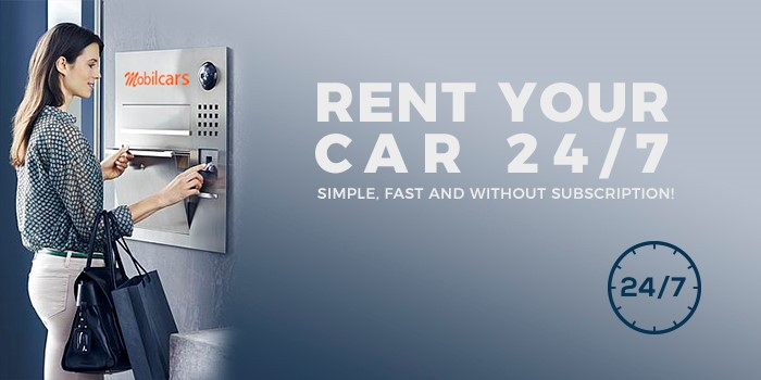 Rent your car 24/7 - Mobilcars